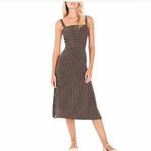 Faithfull The Brand Katergo Midi Dress in Black 2